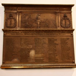 World War I Plaque